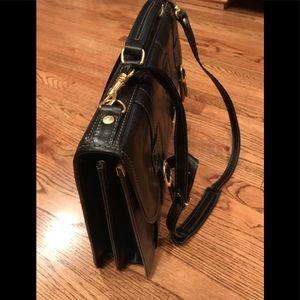L'Arte Della Pelle Castello blk leather briefcase